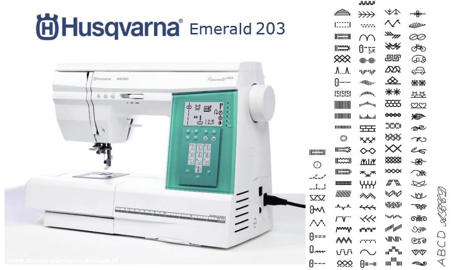 Husqvarna Emerald 203 - maszyna-komputerowa