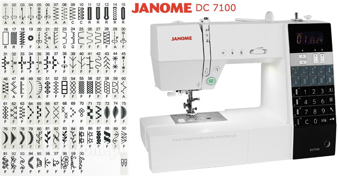 Janome DC7100 - maszyna-komputerowa